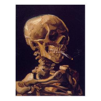 """Van Gogh """"Schädel mit eine brennende Zigaretten-"""" Postkarte"""
