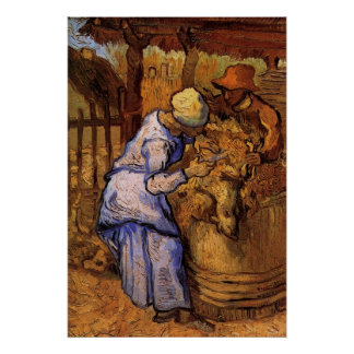Van Gogh; Schaf-Schermaschinen, Vintager Poster