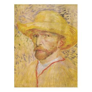 Van Gogh - Selbstporträt mit Strohhut (1887) Postkarte