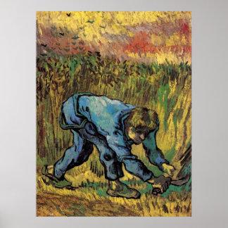 Van Gogh; Sensenmann mit Sichel, Vintager Bauer Poster