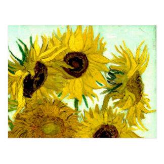 Van Gogh: Sonnenblume-Vintage feine Kunst des Postkarte