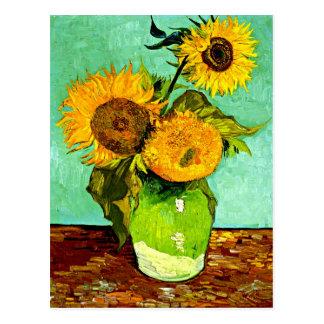 Van Gogh Sonnenblumen (3) Postkarte