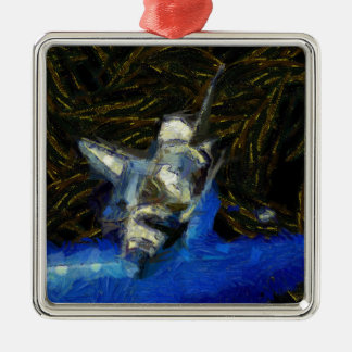 Van Gogh spaceshuttle Silbernes Ornament