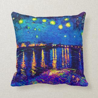 Van Gogh - Starry Nacht über der Rhône-Pop-Kunst Kissen