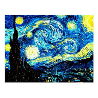 Van Gogh - sternenklare Nacht Postkarte