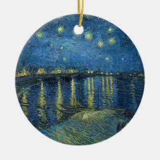 Van Gogh: Sternenklare Nacht über der Rhône Keramik Ornament