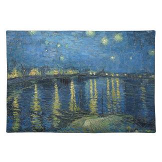 Van Gogh: Sternenklare Nacht über der Rhône Stofftischset