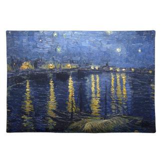 Van Gogh: Sternenklare Nacht über der Rhône Tischset