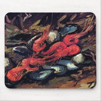 Van Gogh - Stillleben mit Miesmuscheln und Garnele Mousepad