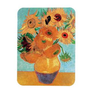 Van Gogh - Stillleben-Vase mit zwölf Sonnenblumen Magnet