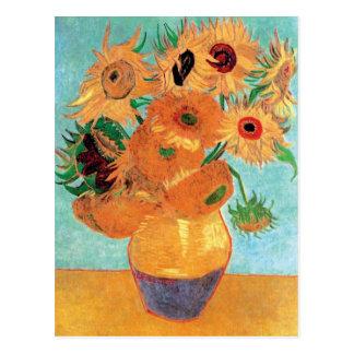 Van Gogh - Stillleben-Vase mit zwölf Sonnenblumen Postkarte