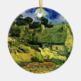 Van Gogh Thatched Hütten bei Cordeville, feine Keramik Ornament