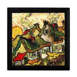 Van Gogh: Thatched Hütten im Sonnenschein Geschenkbox
