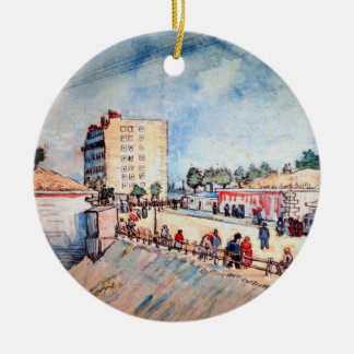 Van Gogh; Tor in ParisRamparts, Vintage feine Rundes Keramik Ornament