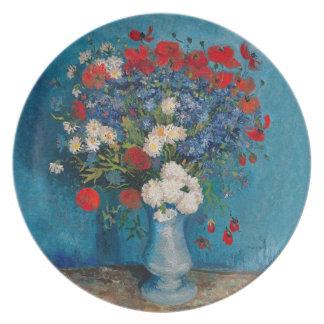 Van- Gogh u. Elizabeth-Blume - Nachtisch u. Melaminteller