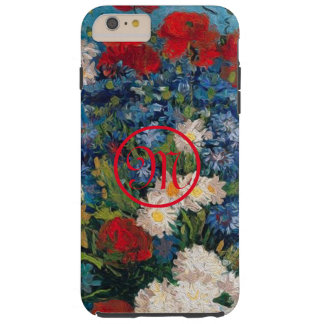 Van- Gogh u. Elizabeth-Blumen-Monogramm - Tough iPhone 6 Plus Hülle