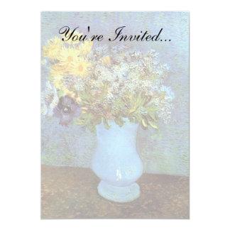 Van Gogh - Vase mit Fliedern, Gänseblümchen und Karte