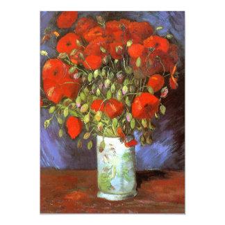 Van Gogh: Vase mit roten Mohnblumen Personalisierte Ankündigungskarte