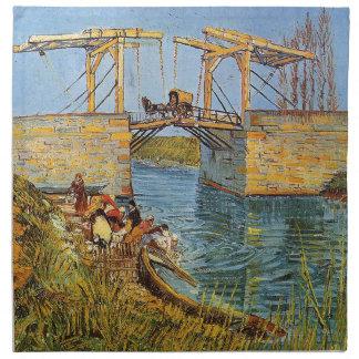 Van Gogh Vincent - die Langlois Brücke Stoffserviette