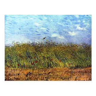 Van Gogh: Weizen-Feld mit Mohnblumen und Lerche Postkarte
