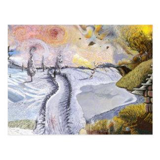 Van Gogh: Winter-Landschaft Postkarten