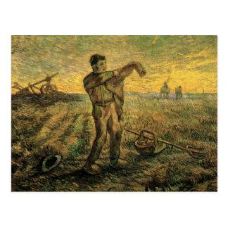 Van- GoghAbend: Ende des Tages, Vintage Kunst Postkarte