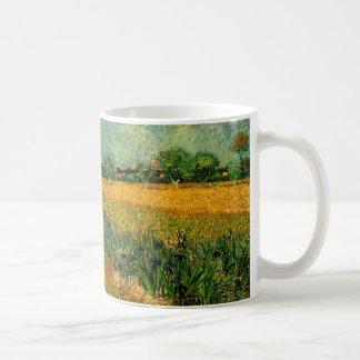 Van- Goghansicht von Arles w Irises, Vintage feine Kaffeetasse