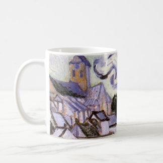 Van- Goghansicht von Auvers mit Kirche, schöne Kaffeetasse