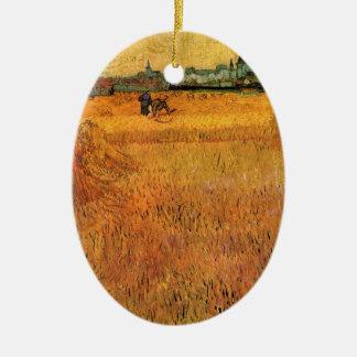 Van- Goghansicht von den Weizen-Feldern in Arles, Keramik Ornament