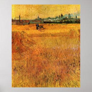 Van- Goghansicht von den Weizen-Feldern in Arles, Poster