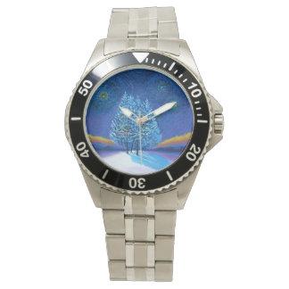 Van- Goghart-Blau-Weihnachten Uhr