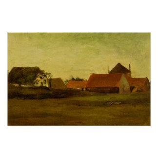 Van- Goghbauernhäuser in Loosduinen, Den Haag Poster