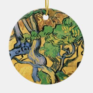 Van- Goghbaum-Wurzeln und Stämme, Vintage feine Keramik Ornament
