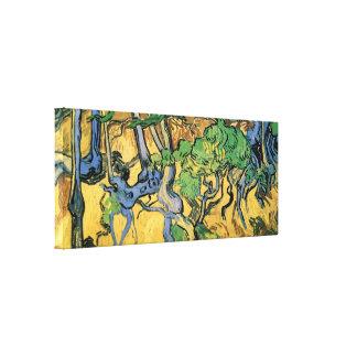 Van- Goghbaum-Wurzeln und Stämme, Vintage feine Leinwanddruck