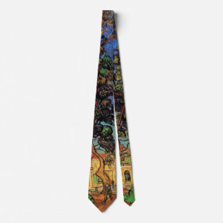 Van- Goghbäume im Garten, Saint Paul-Krankenhaus Personalisierte Krawatte