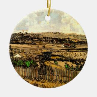 Van- Goghernte in Provence, Vintage feine Kunst Keramik Ornament