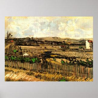 Van- Goghernte in Provence, Vintage feine Kunst Poster