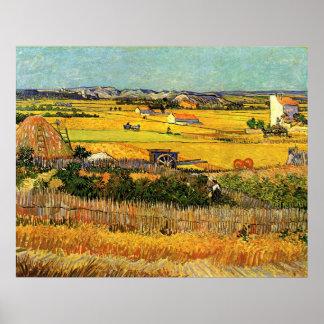 Van- Goghernte-La Crau, Montmajour, schöne Kunst Poster