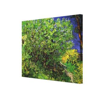 Van- Goghfliedern, Vintage Blumen, feine mit Leinwanddruck