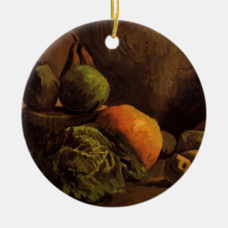 Van- Goghgemüse-Frucht, Vintage noch Leben-Kunst Keramik Ornament
