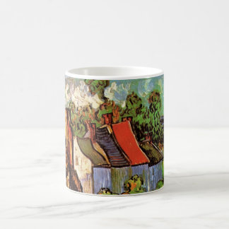 Van- Goghhäuser in Auvers, Vintage feine Kunst Kaffeetasse