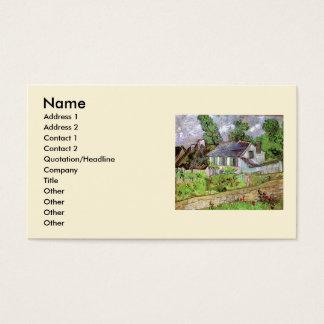 Van- Goghhäuser in Auvers, Vintage feine Kunst Visitenkarte