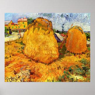 Van- Goghheuschober in Provence, Vintage feine Poster