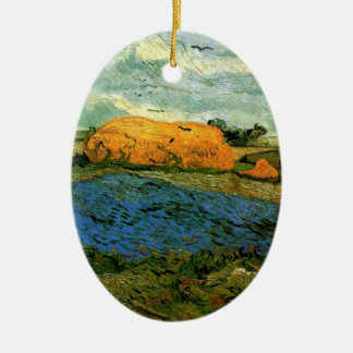 Van- Goghheuschober unter einem regnerischen Keramik Ornament