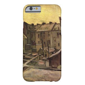Van- Goghhinterhöfe der alten Häuser, Antwerpen im Barely There iPhone 6 Hülle