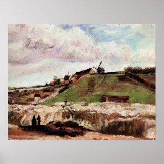 Van- Goghhügel von Montmartre mit Steinbruch, Poster
