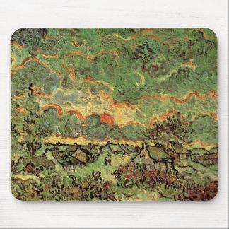 Van- GoghHütten-Zypressen-Erinnerung des Nordens Mousepad