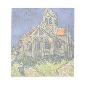 Van- Goghkirche bei Auvers, Vintage Architektur Notizblock
