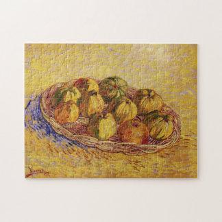 Van- Goghkorb der Äpfel, Vintage noch Leben-Kunst Puzzle