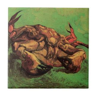 Van- Goghkrabbe auf seiner hinteren, Vintagen noch Fliese